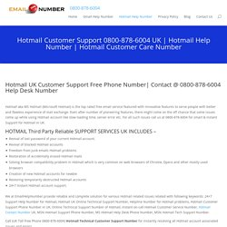 Hotmail Support 0800-878-6004 Phone Number