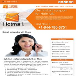 Hotmail not syncing with IPhone