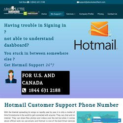 Contact Hotmail Customer Support {1844-631-2188} Phone Number