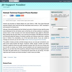 Hotmail Technical Support Phone Number - JD Support Number