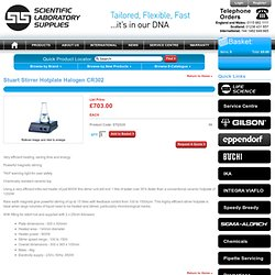 (STI2020) - Stuart Stirrer Hotplate Halogen CR302 - (SLS) Scientific Laboratory Supplies Ltd