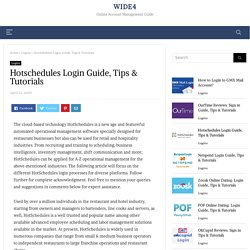 Hotschedules Login Guide, Tips & Tutorials