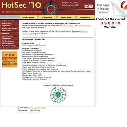 HotSec '10