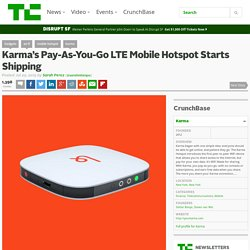 Karma's Pay-As-You-Go LTE Mobile Hotspot Starts Shipping