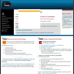 Hotspots WiFi gratuits bornes. Orange, SFR / Neuf, Free.