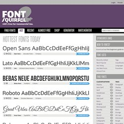 Hottest Fonts Today