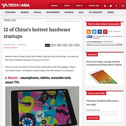 12 of China's hottest hardware startups