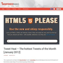 Tweet Heat - The hottest Tweets of the Month [January 2012]