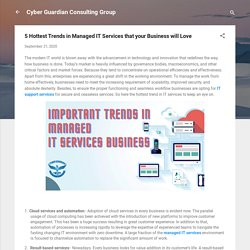 5 Hottest Trends in Managed IT Services that your Business will Love