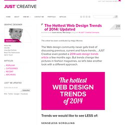 The Hottest Web Design Trends of 2014: Updated