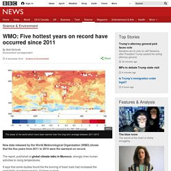 WMO: Five hottest years on record have occurred since 2011