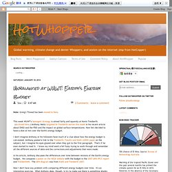 HotWhopper: Unbalanced at WUWT: Earth's Energy Budget