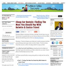 Hotwire Rental Cars