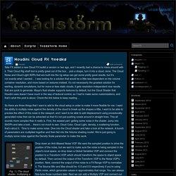 Houdini Cloud FX tweaks » Toadstorm Nerdblog