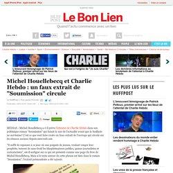 """Michel Houellebecq et Charlie Hebdo : un faux extrait de """"Soumission"""" circule"""