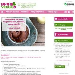 Houmous de haricots rouges mélasse, cannelle, cacao (sucré)1.2.3. Veggie