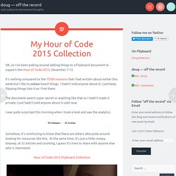 My Hour of Code 2015 Collection