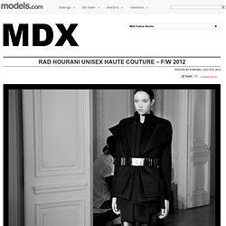 Rad Hourani Unisex Haute couture – F/W 2012