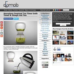Hourglass-Inspired Tea Timer both Times & Steeps Hot Tea