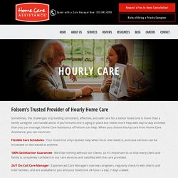Part-Time Hourly Home Care for Placer County Seniors