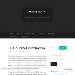 30 Hours & First Novella