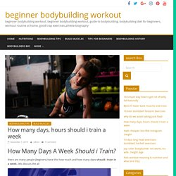 How many days, hours should i train a week [150% working] beginners & A