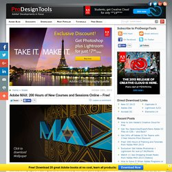 Free! 200 Hours of Training and Tutorials from Adobe MAX 2015