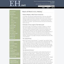 Hours of Work in U.S. History