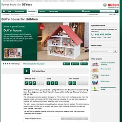 Doll's House Plans (Metric) From Bosch Power Tools
