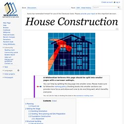 House Construction - Wikibooks, collection of open-content textbooks