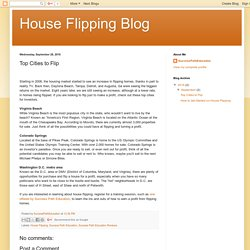 House Flipping Blog: Top Cities to Flip