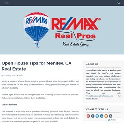 Open House Tips for Menifee, CA Real Estate