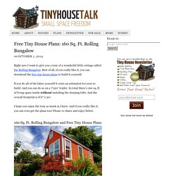 Free Tiny House Plans: 160 Sq. Ft. Rolling Bungalow