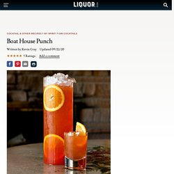 Boat House Punch Cocktail Recipe