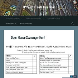 Open House Scavenger Hunt – TPRS with Profe Tauchman