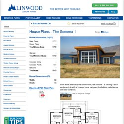 The Sonoma 1 Architectural Series Custom Home