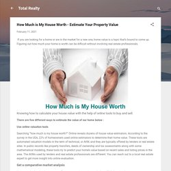 How Much is My House Worth - Estimate Your Property Value