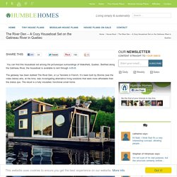 The River Den - A Cozy Houseboat Set on the Gatineau River in Quebec