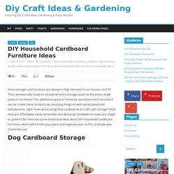 DIY Household Cardboard Furniture Ideas - Diy Craft Ideas & Gardening