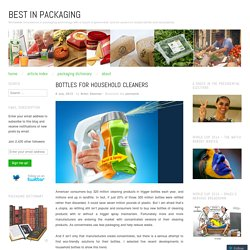 Bottles for Household Cleaners