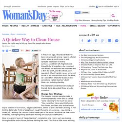 Household Cleaning Tips from WomansDay.com - How to Clean House