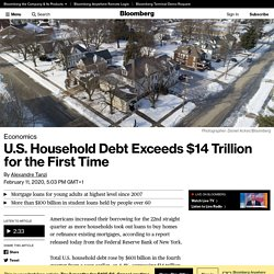 U.S. Household Debt Exceeds $14 Trillion
