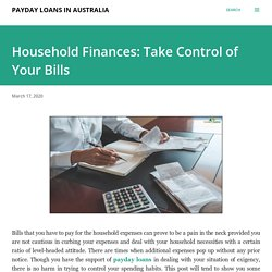 Household Finances: Take Control of Your Bills