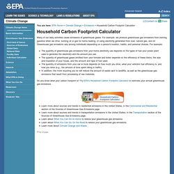 Household Carbon Footprint Calculator
