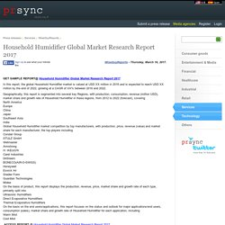 Household Humidifier Global Market Research Report 2017