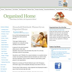 Household Notebook | Get Organized At Home With A Home Managemen