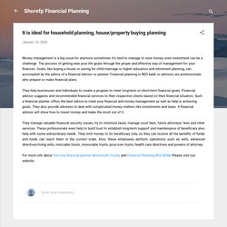 It is ideal for household planning, house/property buying planning