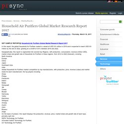 Household Air Purifiers Global Market Research Report 2017