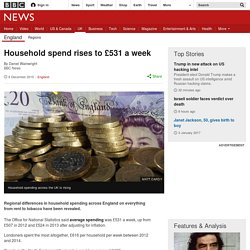 Household spend rises to £531 a week