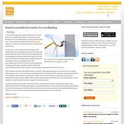 Dutch households buy turbine by crowdfunding